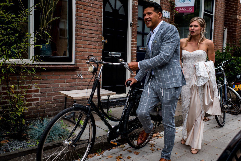 fiets Trouwfotograaf Amersfoort